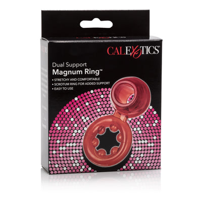 California Exotics - Dual Support Magnum Cock Ring (Red) | CherryAffairs Singapore