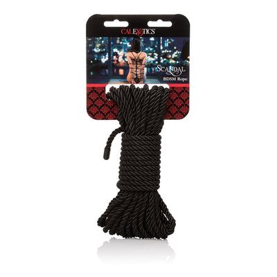 California Exotics - Scandal BDSM Rope (Black) | CherryAffairs Singapore