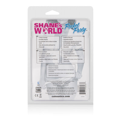 California Exotics - Shane's World Pocket Party Clit Massager (Pink) | CherryAffairs Singapore