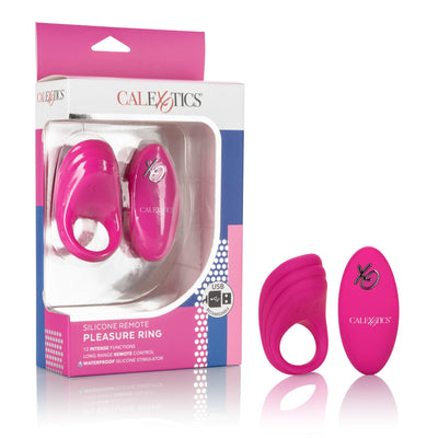 California Exotics - Silicone Remote Pleasure Cock Ring (Pink) Silicone Cock Ring (Vibration) Rechargeable PleasureHobby