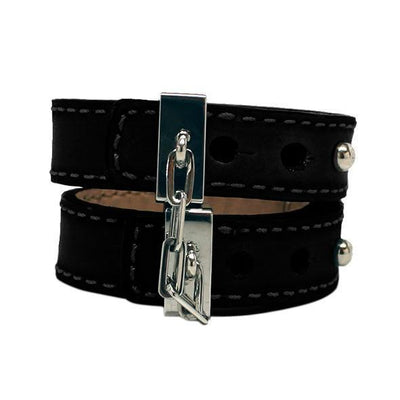 Crave - Leather Cuffs (Black) Hand/Leg Cuffs PleasureHobby