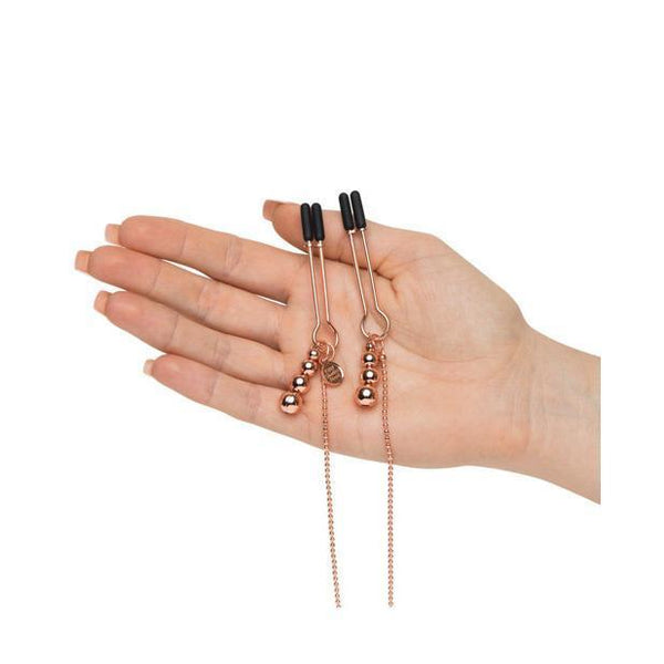 Fifty Shades Freed - All Sensation Nipple & Clitoral Chain (Gold) Nipple Clamps (Non Vibration) - CherryAffairs Singapore