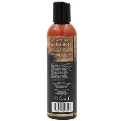 Intimate Earth - Massage Oil Honey Almond 120 ml (Brown) Massage Oil - CherryAffairs Singapore