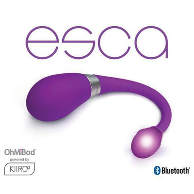 OhMiBod - Kiiroo Esca Remote Control Vibrator (Purple) Remote Control Dildo w/o Suction Cup (Vibration) Rechargeable PleasureHobby