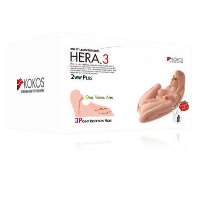 Kokos - Hera 3 Mini Doll with Vibration Meiki (Beige) Doll - CherryAffairs Singapore