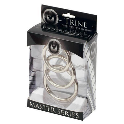 Master Series - Trine Steel C-Ring Collection Metal Cock Ring (Non Vibration) PleasureHobby