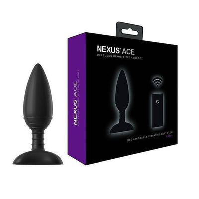Nexus - Ace Remote Control Wireless Vibrating Butt Plug S (Black) | CherryAffairs Singapore