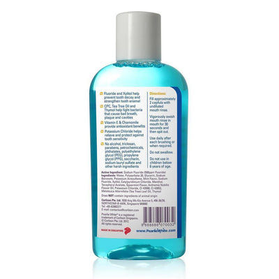 Pearlie White - Fluorinze Alcohol Free Antibacterial Fluoride Mouth Rinse 100ml (Blue) | CherryAffairs Singapore