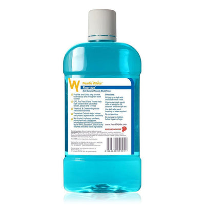 Pearlie White - Fluorinze Alcohol Free Antibacterial Fluoride Mouth Rinse 750ml (Blue) | CherryAffairs Singapore