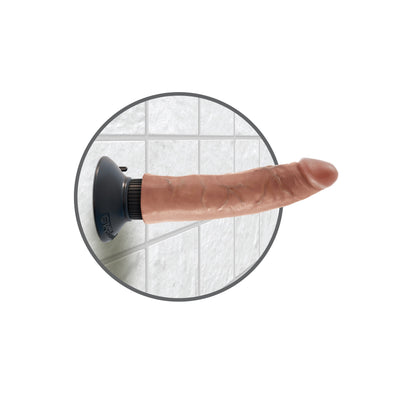 "Pipedream - King Cock Vibrating Cock 7"" (Brown) Realistic Dildo with suction cup (Vibration) Non Rechargeable Singapore"