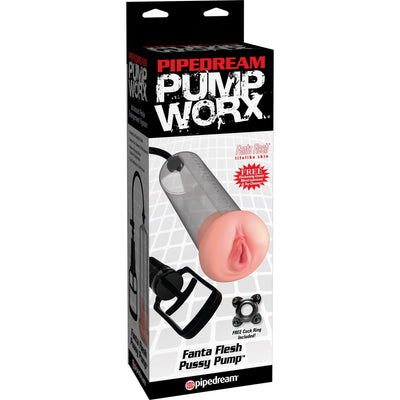 Pipedream - Pump Worx Fanta Flesh Pussy Pump (Black) Penis Pump (Non Vibration) PleasureHobby
