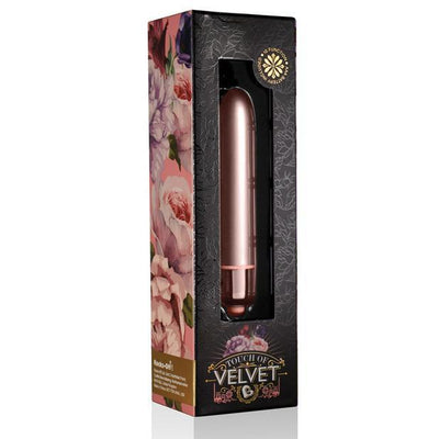 RocksOff - Touch of Velvet Bullet Vibrator (Rose Gold) Bullet (Vibration) Non Rechargeable PleasureHobby