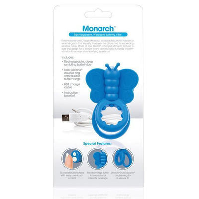 The Screaming O - Charged Monarch Rechargeable Wearable Butterfly Cock Ring (Blue) Silicone Cock Ring (Vibration) Rechargeable Singapore