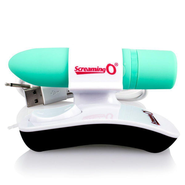 The Screaming O - Charged Postive Remote Control Rechargeable Bullet Vibrator (Green) Bullet (Vibration) Rechargeable Singapore