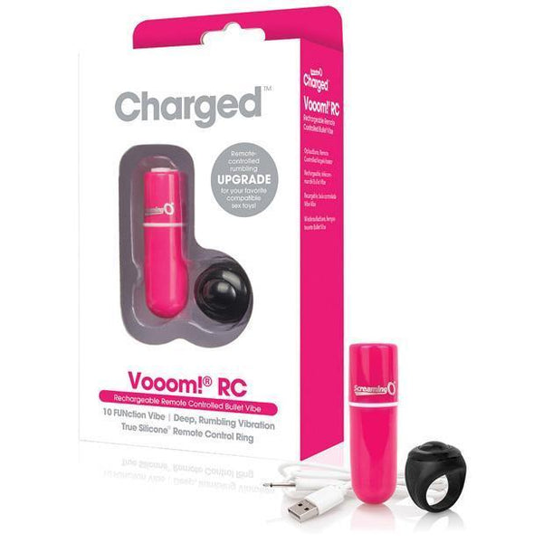 The Screaming O - Charged Vooom RC Rechargeable Bullet Vibrator (Pink) Bullet (Vibration) Rechargeable Singapore