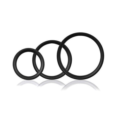 The Screaming O - RingO Pro 3 Soft Stretchy Cock Rings (Black) Silicone Cock Ring (Non Vibration) Singapore
