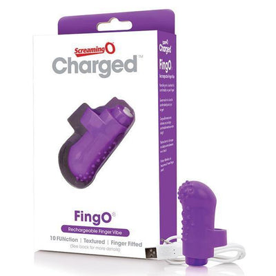 TheScreamingO - Charged FingO Rechargeable Finger Vibe (Purple) Clit Massager (Vibration) Rechargeable PleasureHobby