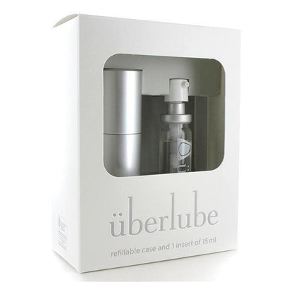 Uberlube - Silicone Lubricant Refillable Case 15ml (Silver) Lube (Silicone Based) PleasureHobby
