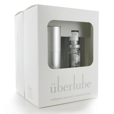 Uberlube - Silicone Lubricant Refillable Case with 3 Refills 15ml (Silver) Lube (Silicone Based) Singapore