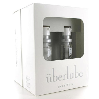 Uberlube - Silicone Lubricant Travel 4 Refills 15ml (Clear) Lube (Silicone Based) PleasureHobby