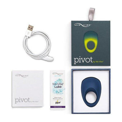 We-Vibe - Pivot Vibrating Cock Ring (Blue) Silicone Cock Ring (Vibration) Rechargeable - CherryAffairs Singapore