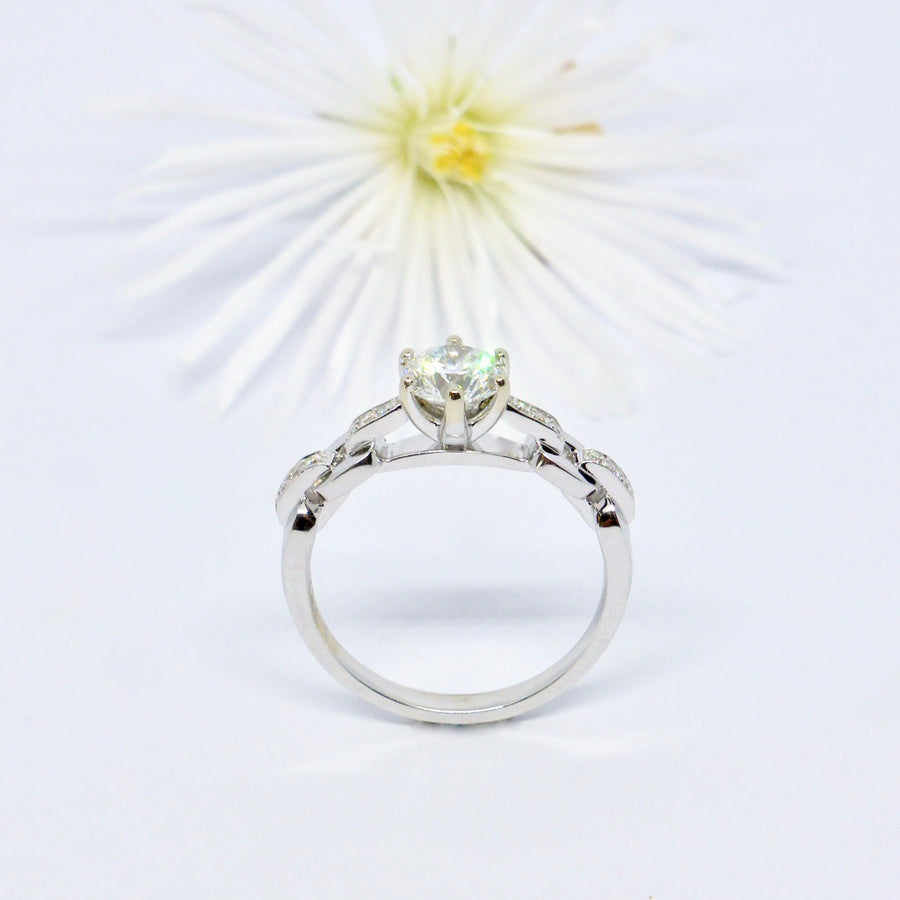 One Carat Diamond Ring. Custom made.