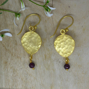 Golden pear drop earrings