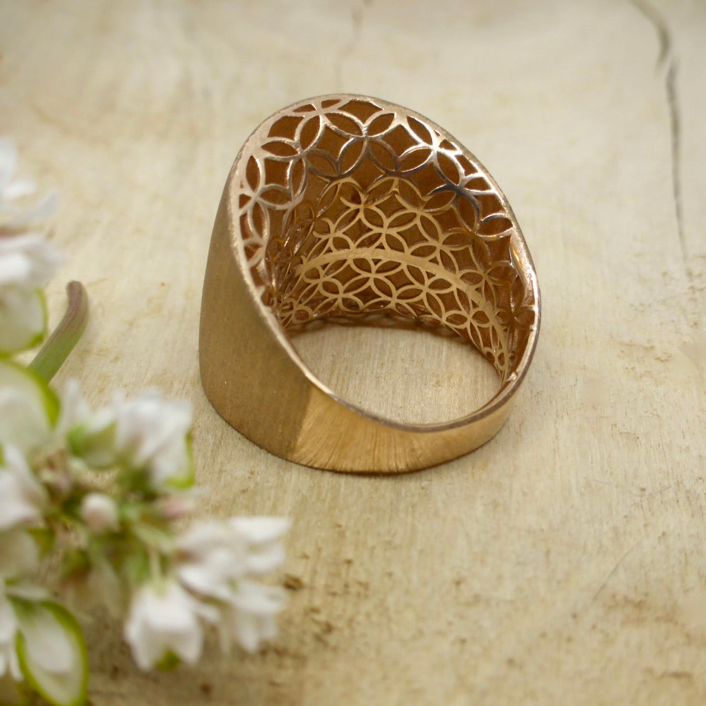 Rose Gold Design Space Ring
