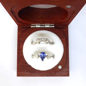 Wedding and engagement ring in box