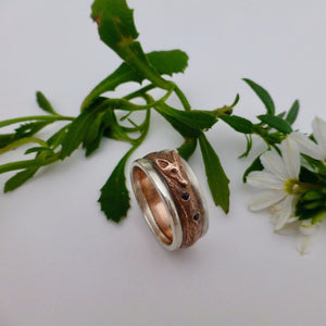 Fox ring silver and copper