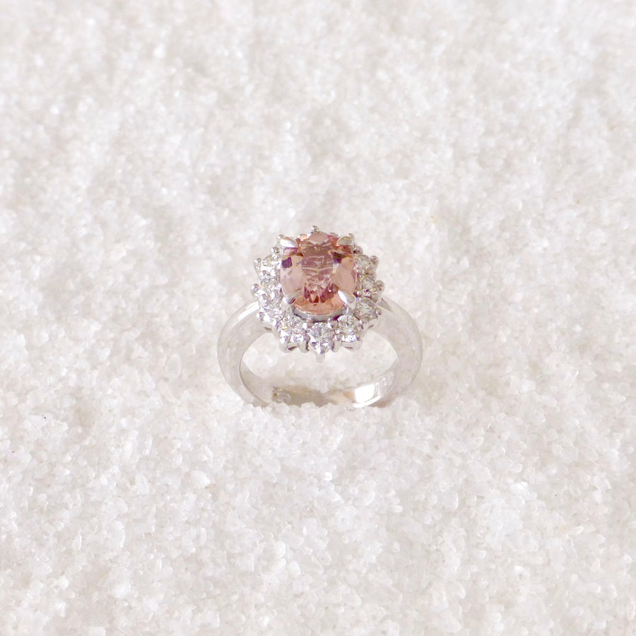 Morganite Diamond ring australia
