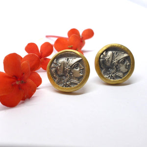 Roman coin earrings Newrybar