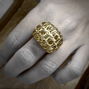 Gold ring designer Byron Bay