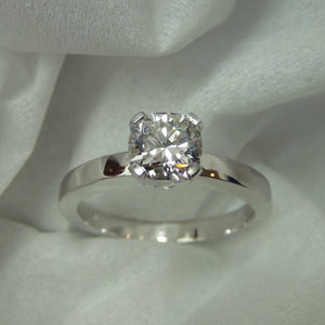 Custom - Cushion Cut Diamond Engagement Ring