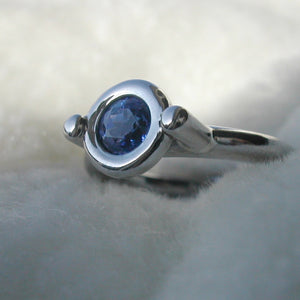 Custom - Tanzanite And White Gold Dress Ring