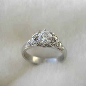 Custom - Vintage Style Custom Handmade Engagement Ring