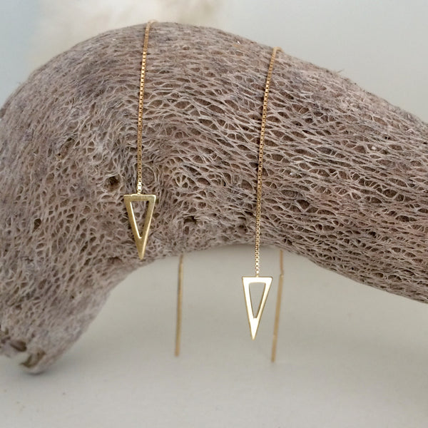 Earrings - 9ct Gold Thread Earrings