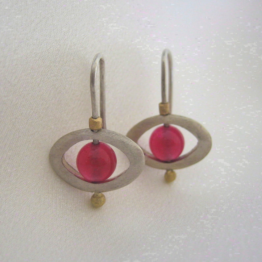 Earrings - Planet Earrings In Gold And Sterling Silver