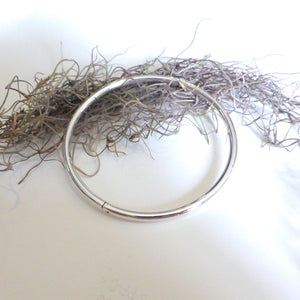 Solid Silver Hinged Bangle