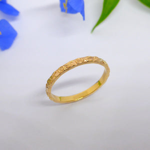 Rose ring 18ct gold