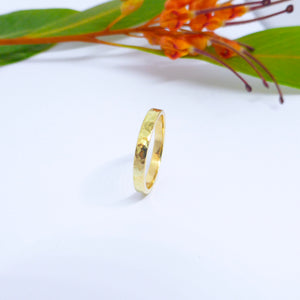 hammered wedding ring byron bay