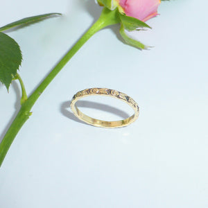 14ct rose ring