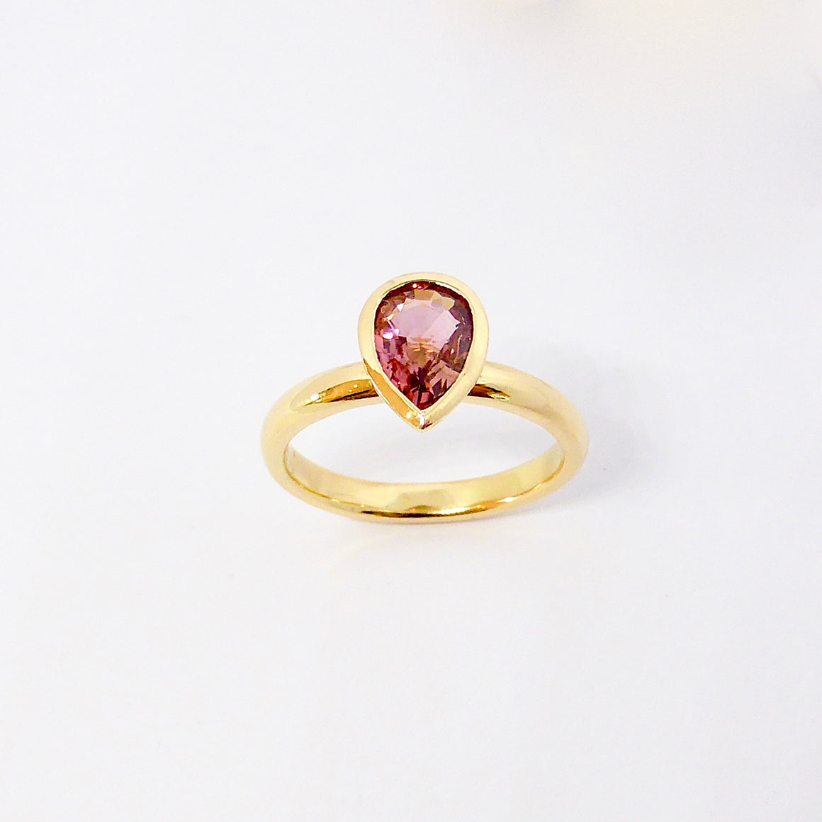 Gold and Tourmaline Solitaire.