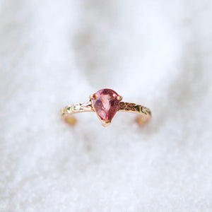 Rose ring with pink tourmaline