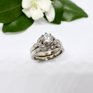 Vintage Style Custom Handmade Engagement Ring