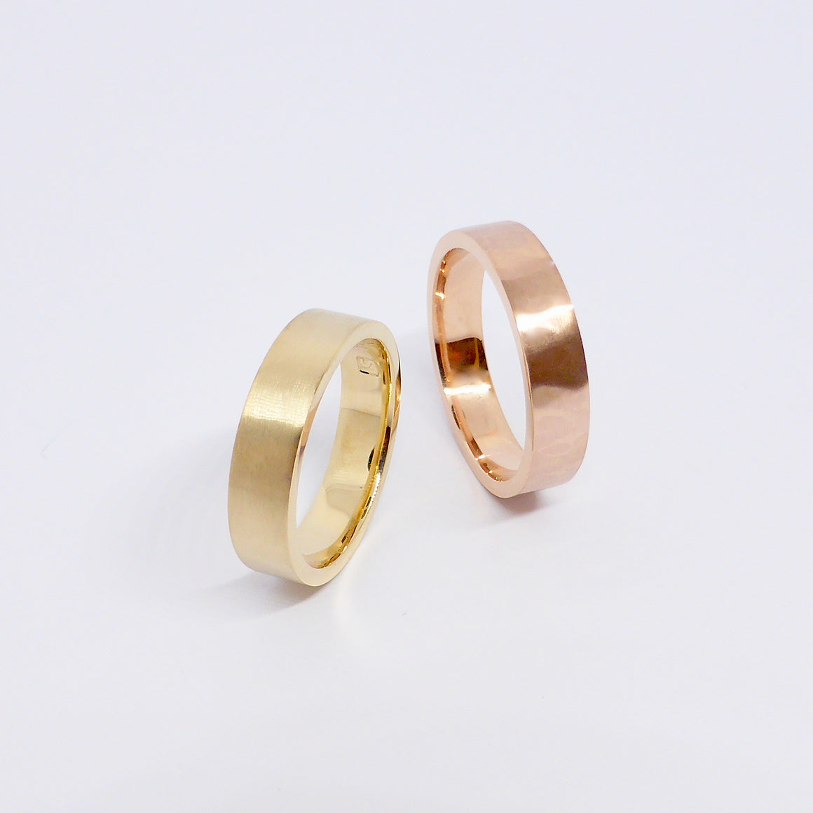 Weddings bands rose yellow gold Newrybar