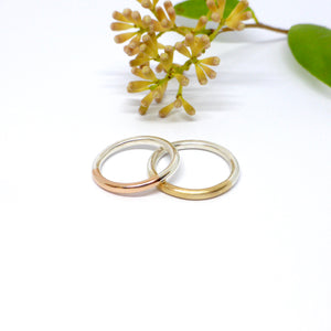 Wedding rings in Silver and Gold.