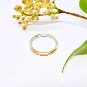 Silver and gold wedding band Byron bay