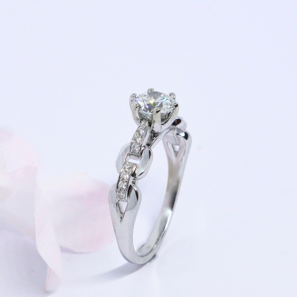 Rock and Roll one Carat Diamond Ring. Custom made.