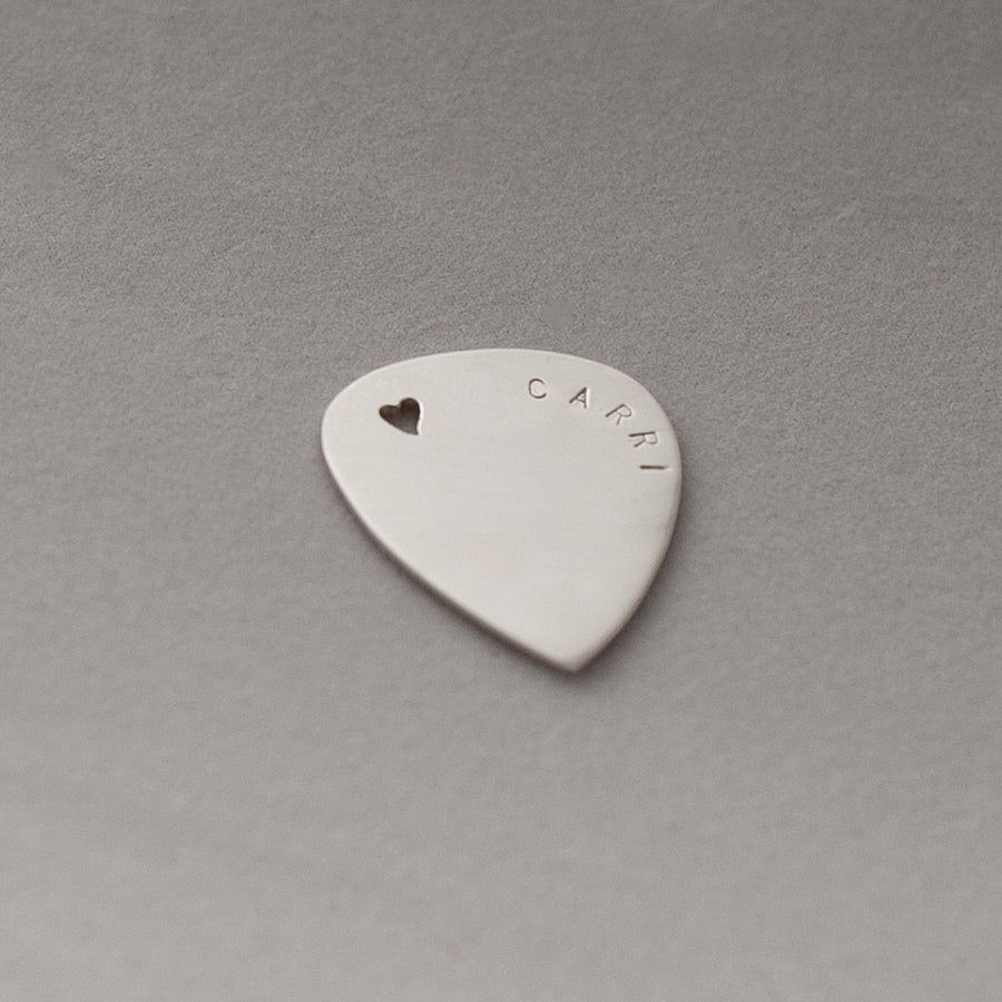 Pendants - Sterling Silver Guitar Pick